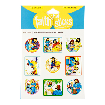 Tyndale, Faith That Sticks, New Testament Bible Stories Stickers, Package of 54