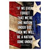 If We Ever Forget Flag Wall Decor, MDF, Patriotic, 18 x 12 x 1 inches