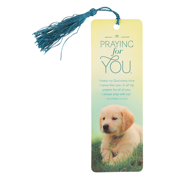 Salt & Light, Praying For You Tassel Bookmark, 2 1/4 x 7 inches