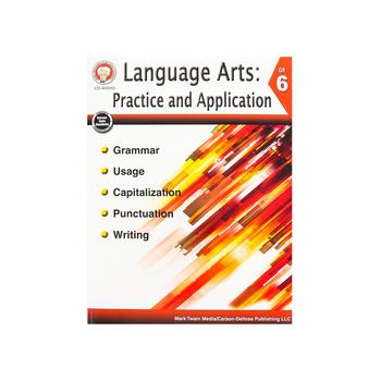 Carson-Dellosa, Language Arts Practice and Application Resource Book, Reproducible Paperback, Grade 6
