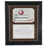 Carson Home Accents, Teacher Framed Prayer, PVC, 12 x 10 inches