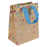Brother Sister Design Studio, Confetti Kraft Small Gift Bag, 8 1/2 x 6 1/2 x 4 inches