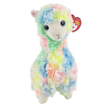 Ty Beanie Boos, Lola Llama Plush, Pastel Watercolor, 6 inches