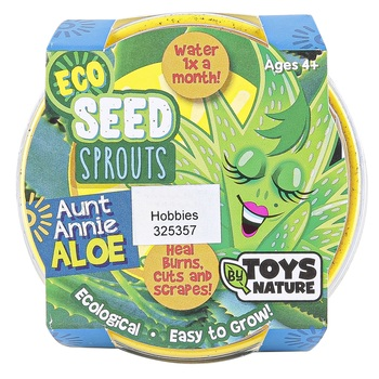 Toys By Nature, Aunt Annie Aloe Eco Seed Sprouts, 3 x 3 x 2 1/4 Inches, Ages 4 and Older