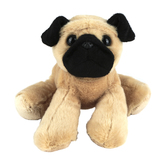 Aurora, Mini Flopsies, Mr Pugster the Pug Dog Stuffed Animal, 8 inches