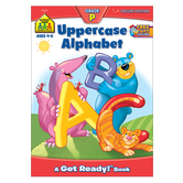School Zone, Uppercase Alphabet Deluxe Preschool Workbook, Paperback, 64 Pages, Ages 4-6