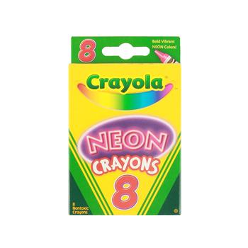 Crayola, Neon Crayons, 8 Count
