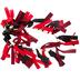 Lumberjack Ribbon Garland, Red/Black, 6 Feet