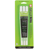 Gelly Roll, Classic Gel Pens, Medium Point .4mm, White, Pack of 3