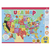 MasterPieces, USA Map with State Capitals Jigsaw Puzzle, 60 Pieces, 16 1/2 x 12 3/4 inches