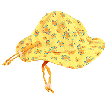 Stephen Joseph, Sunshine Baby Bucket Hat, Cotton, Yellow, 21 x 9 inches
