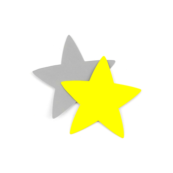 Renewing Minds, Two-Sided Mini Star Cutouts, 3 Inches, Silver and Yellow, Pack of 36