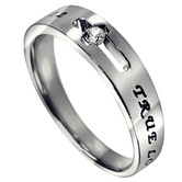 Spirit & Truth, True Love Waits, 1 Timothy 4:12, Purity Ring, Stainless Steel, Sizes 5-9