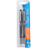 Paper Mate, Flair Felt Tip Pens, Medium Point, Black Ink, Pack of 2