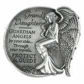 AngelStar, Grand Daughter Guardian Angel Visor Clip, Nickel Free Zinc Alloy, 2.50 Inches