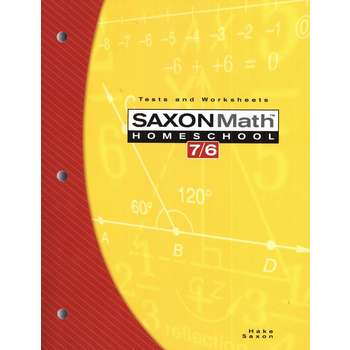 Saxon Math 7/6 HomeschoolTests & Worksheets