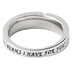 Spirit & Truth, I Know the Plans I Have For You, Channel Cross Purity Ring, Stainless Steel, Size 8