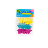 Silly Winks, Glitter Cross Foam Stickers, 7/8 - 1 1/2 inches, Assorted Colors, 45 count