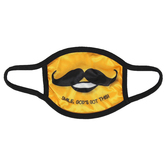 Kerusso, Smile Gods Got This Mustache Kids Mask, One Size Fits Most Ages 3 to 10, 1 Mask