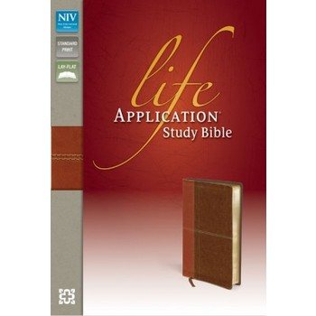 NIV Life Application Study Bible, Duo-Tone, Caramel and Dark Caramel