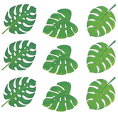 Creative Teaching Press, Palm Paradise Monstera Leaves Mini Cut-Outs, 3 Inches, 36 Pieces