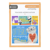 ThreeRoses, Wild Animal Teacher Appreciation Boxed Cards, 12 Cards with Envelopes