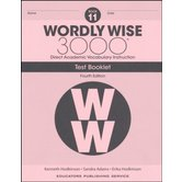 Wordly Wise 3000 4th Edition Test Booklet 11, Paperback, Grade 11