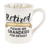 Enesco, Our Name Is Mud, Retirement Grandkids Coffee Mug, Ceramic, 16 Ounces