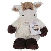 Warmies, Cow Stuffed Animal, Plush, Brown & White, 13 inches