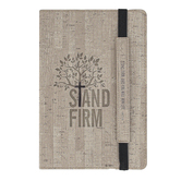 Christian Art Gifts, Luke 21:19 Stand Firm Journal, Imitation Leather, Tan, 160 Dotted Pages