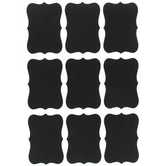 Ornate Chalkboard Vinyl Labels, 2 Sheets of 9 Labels, Black