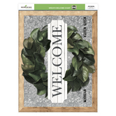 Renewing Minds Collection, Customizable Wreath Welcome Chart, 22 x 17 Inches, Multi-Colored