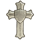 Roman, Inc., Armor of God Wall Cross, Resin, Silver-Toned, 6 x 8 inches