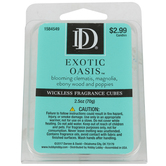 D&D, Exotic Oasis Wickless Fragrance Cubes, Blue, 2 1/2 ounces
