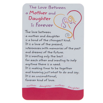 Blue Mountain Arts, The Love Between a Mother and Daughter Is Forever Wallet Card, 2 x 3 1/4 inches