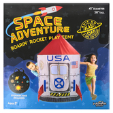 Brybelly, Space Adventure Roarin Rocket Play Tent, 41 x 58 inches
