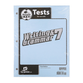 BJU Press, Writing & Grammar 7 Tests Answer Key (3rd Edition)