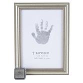 Grandparent Gift, Co., Baptism Framed Handprint Plaque, 5 x 7 inches