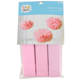 Bright Ideas, Tissue Party Pom Poms, Multiple Colors Available, 3 count