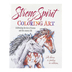 Product Concept Manufacturing, Strong Spirit Coloring Art Horse Coloring Book, Paperback, 24 Designs