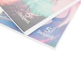Top Flight, Petals & Stripes 5 Subject Notebook, Spiral Bound, 180 Pages