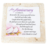 Product Concepts, An Anniversary Tabletop Plaque, Natural Stone, 4 x 4 inches