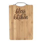 Brownlow Gifts, Bless This Kitchen Cutting Board, Bamboo, 7 1/2 x 11 3/4 inches