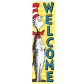 Eureka, Cat in the Hat Welcome Vertical Classroom Banner, Multi-Colored, 12 x 45 Inches, 1 Each