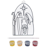 Brother Sister Design Studio, Christmas Crafts, Nativity Suncatcher Craft Kit, Makes 2