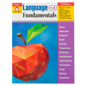 Evan-Moor, Language Fundamentals Teacher Reproducible Book, Paperback, 272 Pages, Grade 4