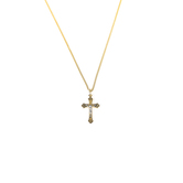 H.J. Sherman, Two Tone Crucifix Necklace, 18K Gold Over Sterling Silver, 18 inches