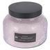 Darsee & David's, Iridescence Embossed Jar Candle, Purple, 18 Ounces