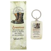 Lucianos Gifts, Psalm 128:1 Bienaventurado Spanish Bookmark & Key Chain Gift Set, 2 Pieces