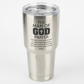 Dicksons, Man of God Tumbler, Stainless Steel, Silver, 30 ounces